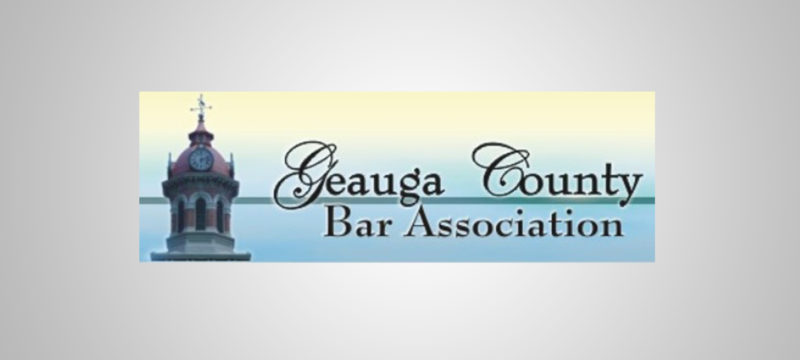Todd Petersen Serves as President of the Geauga County Bar Association